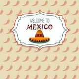 Welcome to mexico concept chili pepper background. Vector illustration eps 10 Royalty Free Stock Photos