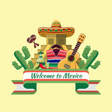 Welcome to mexico poster Royalty Free Stock Images