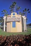�Welcome to Miami Beach� also known as south beach, Miami Beach, Florida Royalty Free Stock Photos