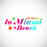 Welcome to Miami bright print. Stock Photography