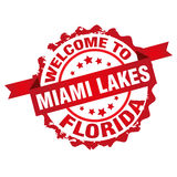 Welcome to Miami Lakes Royalty Free Stock Photography