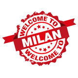 Welcome to Milan stamp Royalty Free Stock Images