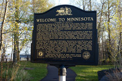 Welcome to Minnesota stock image