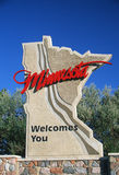 Welcome to Minnesota Sign Royalty Free Stock Images