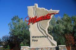 Welcome to Minnesota Sign Royalty Free Stock Photo