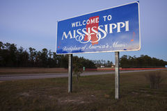 Welcome to Mississippi Royalty Free Stock Photography