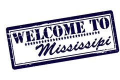 Welcome to Mississippi. Rubber stamps with text welcome to Mississippi inside,  illustration Stock Photos