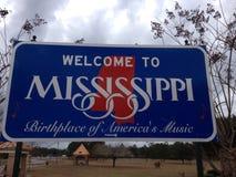 Welcome to Mississippi. A Welcome to Mississippi sign stock photos