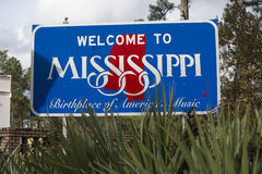 Welcome to Mississippi Sign Royalty Free Stock Photo
