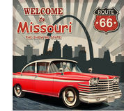 Welcome to Missouri retro poster. The welcome to Missouri retro poster Royalty Free Stock Photo
