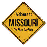 Welcome to Missouri vintage rusty metal sign Royalty Free Stock Photography