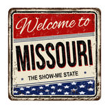 Welcome to Missouri vintage rusty metal sign Stock Images