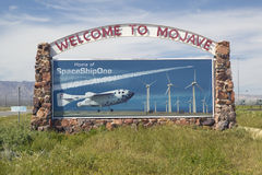 Welcome to Mojave sign Royalty Free Stock Image