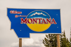 Welcome to Montana Sign Stock Image