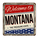 Welcome to Montana vintage rusty metal sign Royalty Free Stock Photos