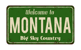Welcome to Montana vintage rusty metal sign Stock Images