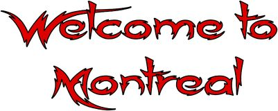 Welcome to montreal text sign illustration Royalty Free Stock Image