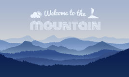 Welcome to the Mountain text on mountain layer abstract background vector design Stock Images