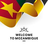 Welcome to Mozambique. Mozambique flag. Patriotic design. Vector illustration. Welcome to Mozambique. Mozambique flag. Patriotic design Royalty Free Stock Photo