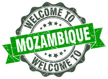 Welcome to Mozambique seal Stock Photo