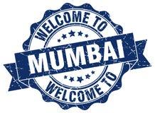 Welcome to Mumbai seal. Welcome to Mumbai round vintage seal Stock Photos