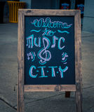 Welcome to music city sign Stock Photo