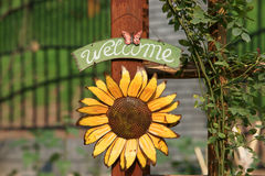 Welcome to my flower gardens Stock Images