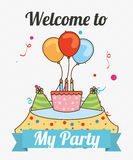 Welcome to my party Royalty Free Stock Photos