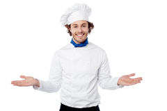 Welcome to my restaurant. Stock Photo