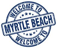 welcome to Myrtle Beach blue round stamp Royalty Free Stock Photos