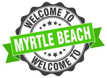 Welcome to Myrtle Beach seal Stock Photography