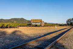 Welcome to Napa Valley country royalty free stock photography