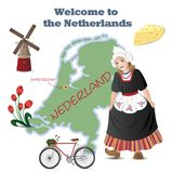 Welcome to the Netherlands Royalty Free Stock Photography