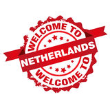 Welcome to Netherlands stamp Stock Photo
