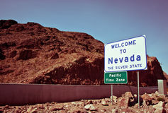 Welcome to Nevada. The Silver State - sing Royalty Free Stock Image