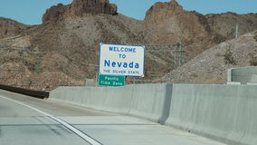 Welcome To Nevada Highway Sign Royalty Free Stock Photos