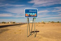 Welcome to Nevada road sign royalty free stock photography