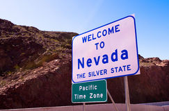 Welcome to Nevada road sign Royalty Free Stock Image
