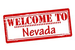 Welcome to Nevada. Rubber stamps with text welcome to Nevada inside,  illustration Royalty Free Stock Image