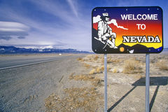 Welcome to Nevada Sign Stock Photo