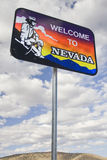 Welcome to Nevada Sign. The 'Welcome to Nevada' sign located at Lake Topaz on the border of California and Nevada on Highway 395 Royalty Free Stock Images
