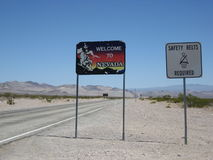 Welcome to Nevada Sign Royalty Free Stock Photos