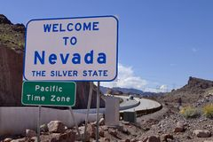 Welome to Nevada Road Sign Royalty Free Stock Photography
