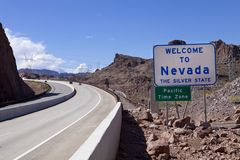 Welome to Nevada Road Sign Royalty Free Stock Photo