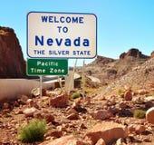 Welcome to Nevada USA Stock Image