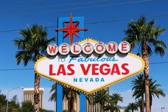 Welcome to Never Sleep city Las Vegas,America,USA Royalty Free Stock Photography