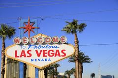 Welcome to Never Sleep city Las Vegas,America,USA Royalty Free Stock Images