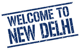 Welcome to New Delhi stamp Royalty Free Stock Photography
