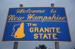 Welcome to New Hampshire Sign Royalty Free Stock Image