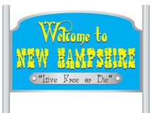 Welcome to new hampshire sign Royalty Free Stock Photography